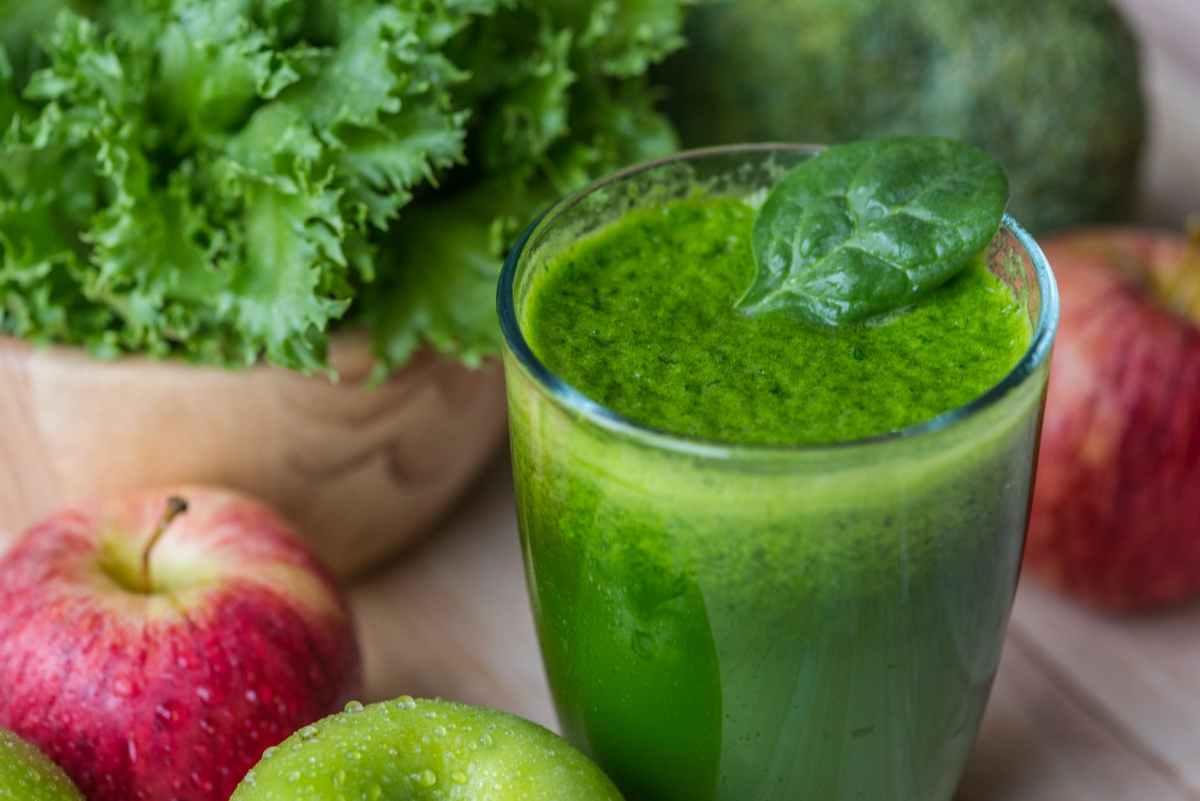 vegetarian juice on table