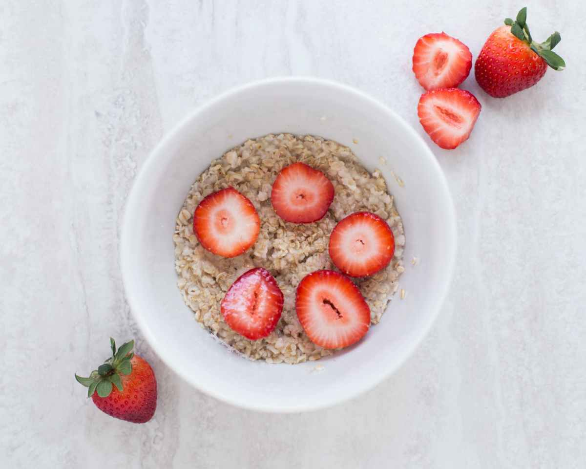 strawberries fresh strawberry oatmeal